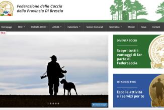 Online il nuovo sito di Federcaccia Brescia