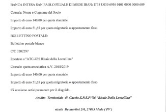 """L' ATC ZPS PV 6 """"Risaie della Lomellina"""" bollettini errati"""